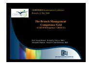 The Branch Management Competence Grid