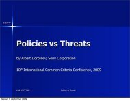 Policies vs Threats - Your Creative Solutions