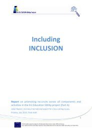 Including INCLUSION Report - EU EDUCATION SWAp Project