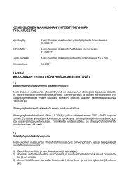 Maakunnan yhteistyöryhmän työjärjestys - Keski-Suomen liitto
