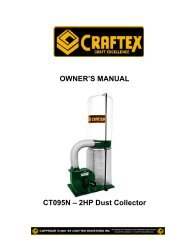 OWNER'S MANUAL CT095N – 2HP Dust Collector - Busy Bee Tools