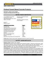 Portland Cement Based Concrete Products - Feldman Lumber