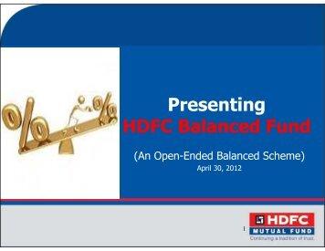 HDFC Balanced Fund- April 2012 - HDFC Mutual Fund