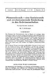 Plattentektonik — eine faszinierende und revolutionierende ...