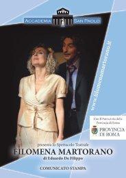 Scarica il comunicato stampa completo - Filomena Martorano