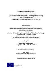 Endbericht des Projektes Nachwachsende Rohstoffe - inno AG