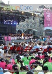 Lazio in Coro Settembre 2012 - Associazione Regionale Cori del ...