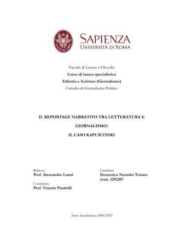 il reportage narrativo tra letteratura e giornalismo - Biloslavo, Fausto