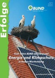 Erfolge in Energie- und Klimaschutz - BUND Konstanz