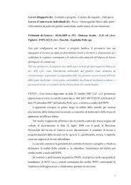 Lavoro (Rapporto di) - Contratto a progetto - Carenza dei ... - Inps