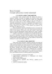 Rocco Coronato, Consigli sulla tesina e norme redazionali