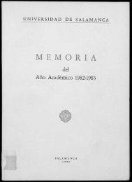 MEMORIA - Gredos - Universidad de Salamanca