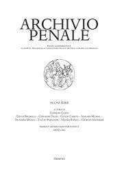 ARCHIVIO PENALE - Aracne Editrice