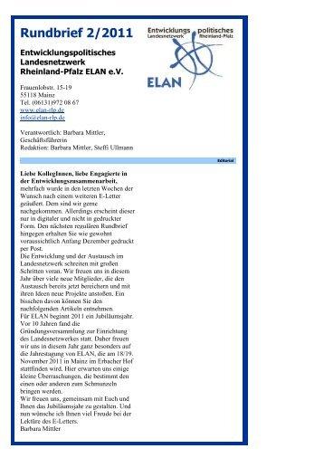 Rundbrief 2/2011 - ELAN