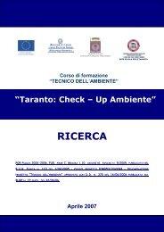 Ricerca Corso Tecnico dell'Ambiente - Scuola Edile Taranto