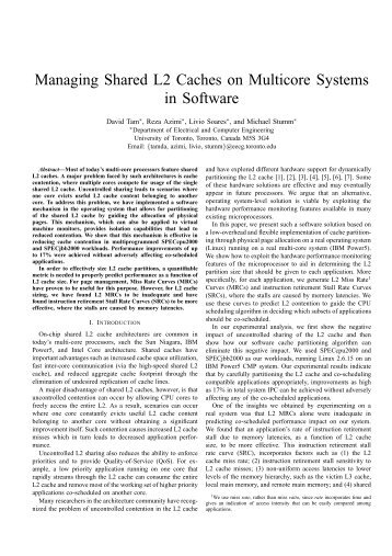 research document at multiprocessor architecture