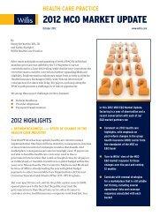 Health Care - MCO Market Update - Oct 2012 V5 - Willis