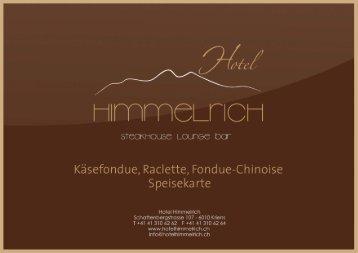 Download Speisekarte - Hotel Himmelrich Kriens