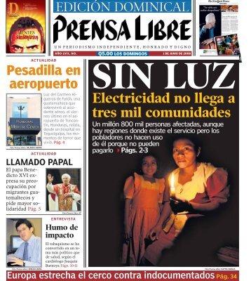 SIN LUZ Electricidad no llega a tres mil comunidades - Prensa Libre