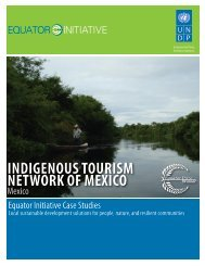 INDIGENOUS TOURISM NETWORK OF MEXICO - Equator Initiative