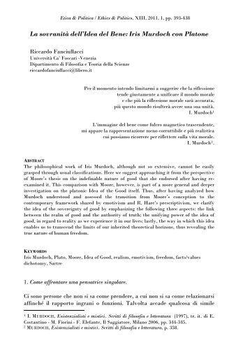 La sovranità dell'Idea del Bene: Iris Murdoch con Platone - OpenstarTs