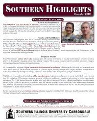 Southern Highlights - March 2010 - SIU Alumni Association