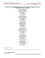 Selection of bioantagonistic bacteria to be used in ... - SciELO