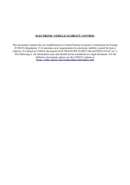 ELECTRONIC VEHICLE STABILITY CONTROL This document