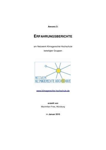 ERFAHRUNGSBERICHTE - Netzwerk Klimagerechte Hochschule