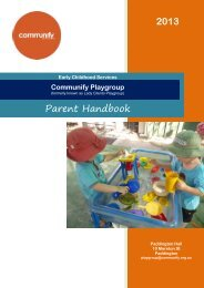 Download Our Parent Handbook [pdf] - Communify