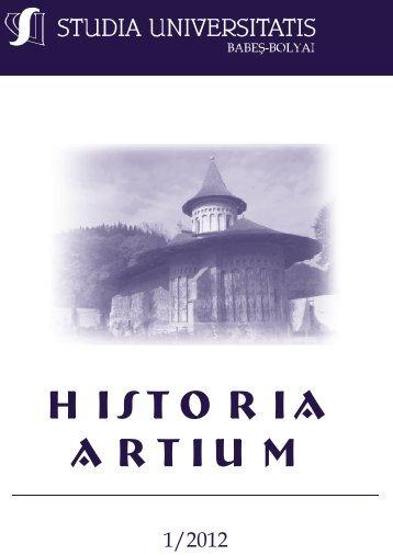 historia artium - STUDIA UNIVERSITATIS Babes-Bolyai