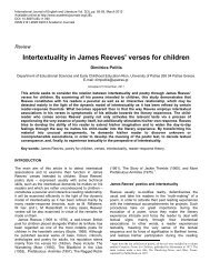 Intertextuality in James Reeves' verses for children - Academic ...