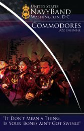 U.S. Navy Band Commodores' trombone section clinic
