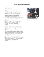Lyrics – Bar Rooms and Ballads - Seamus Kennedy