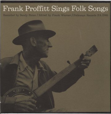 frank proffitt sings folk songs