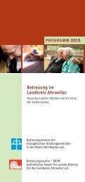 Betreuung im Landkreis Ahrweiler -Programm 2015
