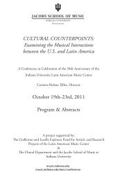 CULTURAL COUNTERPOINTS: Examining the ... - Indiana University