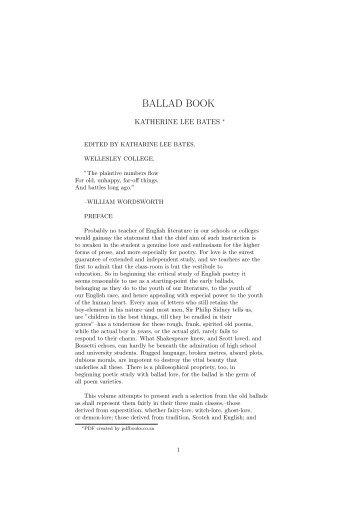 BALLAD BOOK - PDFbooks.co.za