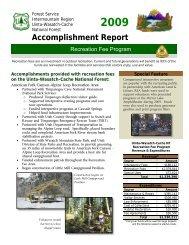 Accomplishment Report - USDA Forest Service