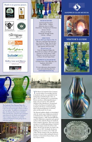 visitor's guide PDF - Sandwich Glass Museum
