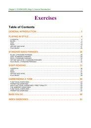 Index Exercises - NORDISC Music & Text