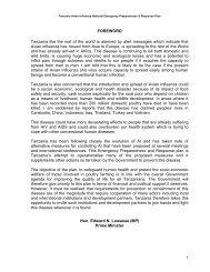 Tanzania National Plan (January 2007)[1].pdf - Avian Influenza and ...