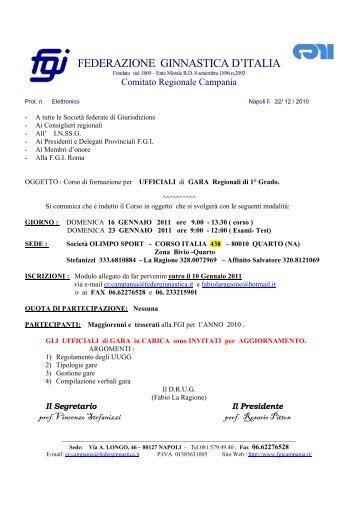 FEDERAZIONE GINNASTICA D'ITALIA - Comitato Regionale ...