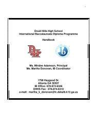 DHHS IB handbook.pdf - CommunityNet: DeKalb County School ...