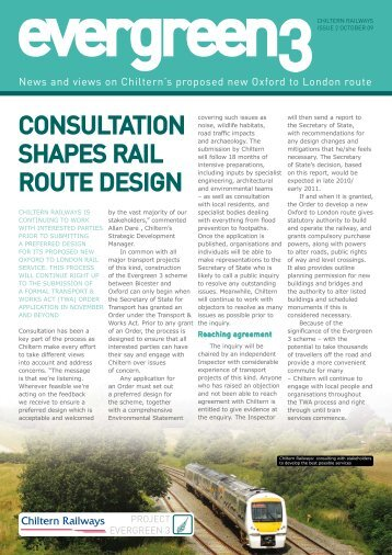 consultation shapes rail route design - Chiltern Evergreen3