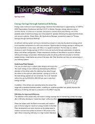 Energy Savings through Optimized Refining - J&L Fiber Services, Inc.