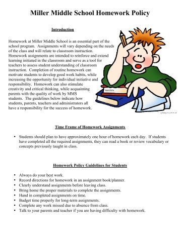 Homework policy middle school