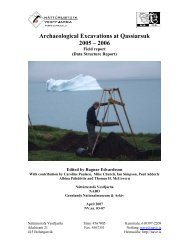 Archaeological Excavations at Qassiarsuk 2005 - 2006 Field ... - Nabo