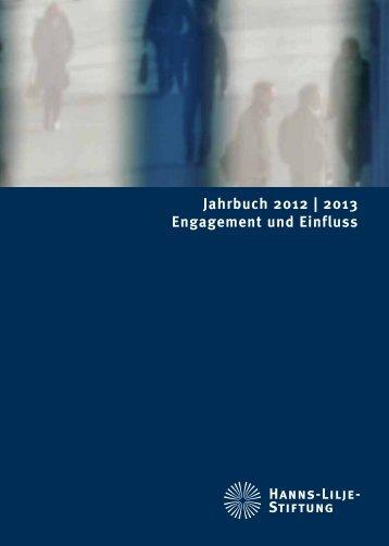 Jahrbuch 2012 | 2013 Engagement und Einfluss - Hanns-Lilje-Stiftung