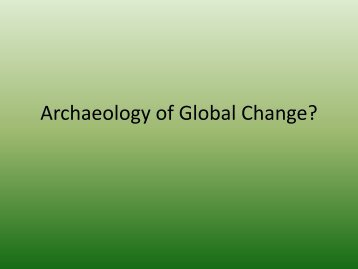 Archaeology of Global Change? - Nabo